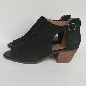Lucky Brand Soft Leather Barimo Peep Toe Bo